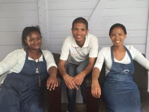 Claudia, Donovan and Rowina