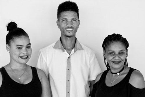 Shamiela Willemse, Donovan Ontong and Alicia Botes